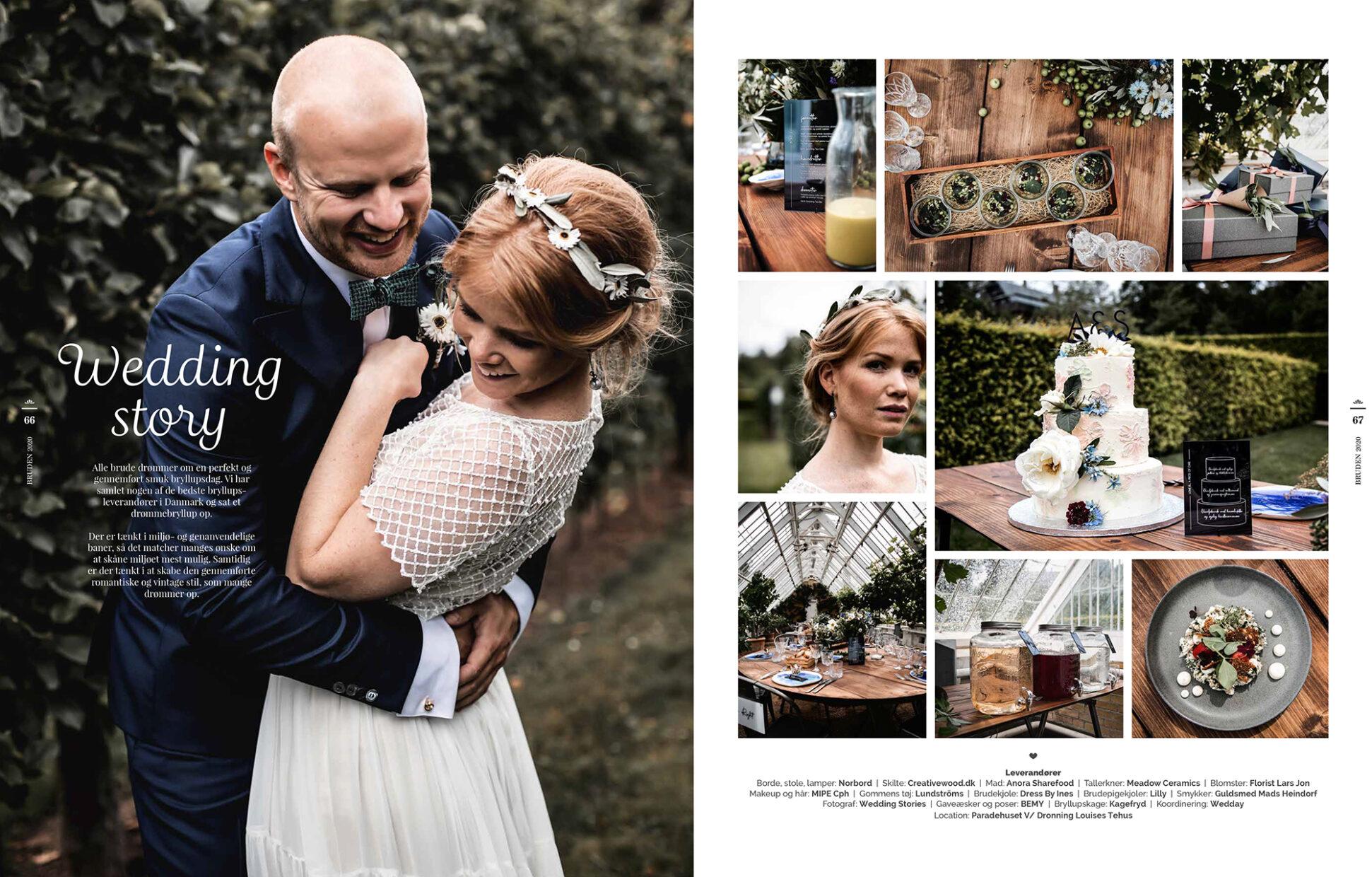 2 sider fra magasinet Bruden